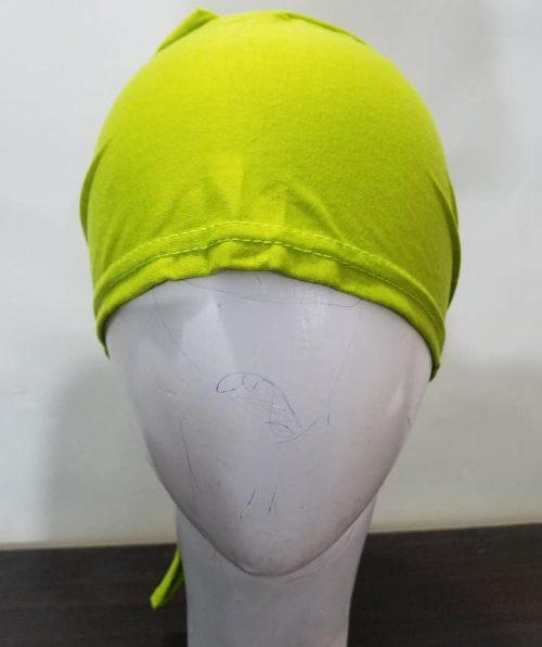 Tie Back Bonnet Cap – Parrot Green