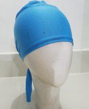 Tie Back Bonnet Cap – Sky Blue