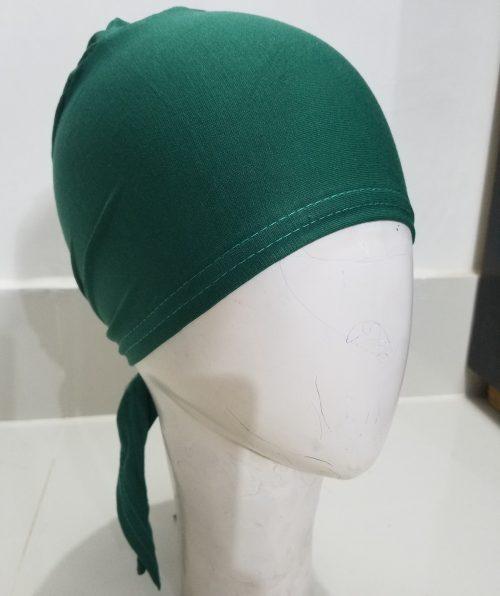 Tie Back Bonnet Cap - Bottle Green