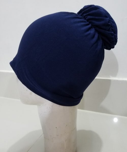 Bun Back Underscarf - Navy Blue
