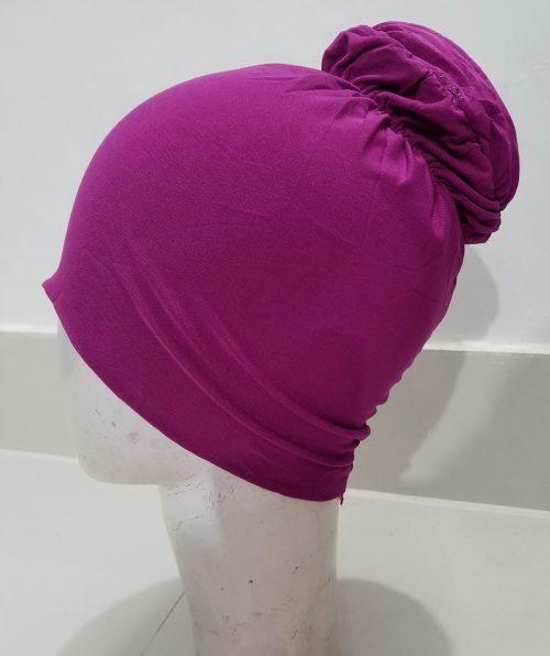 Bun Back Underscarf - Shocking Pink