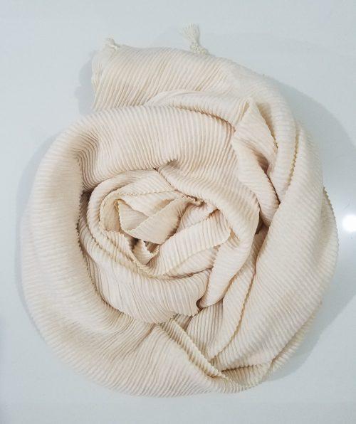 Crinkle Shawl - Off White