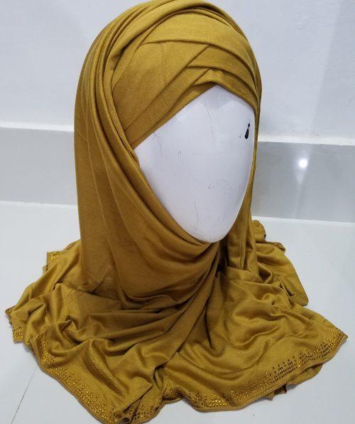 Criss Cross Instant Hijab - Caramel