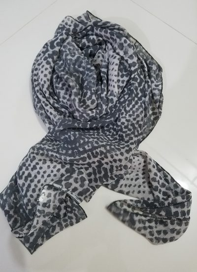 Chiffon Square Scarf - Black Dot