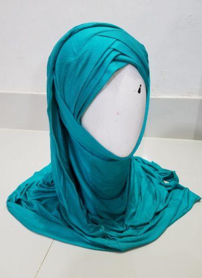 Criss Cross Instant Hijab - Aqua Green