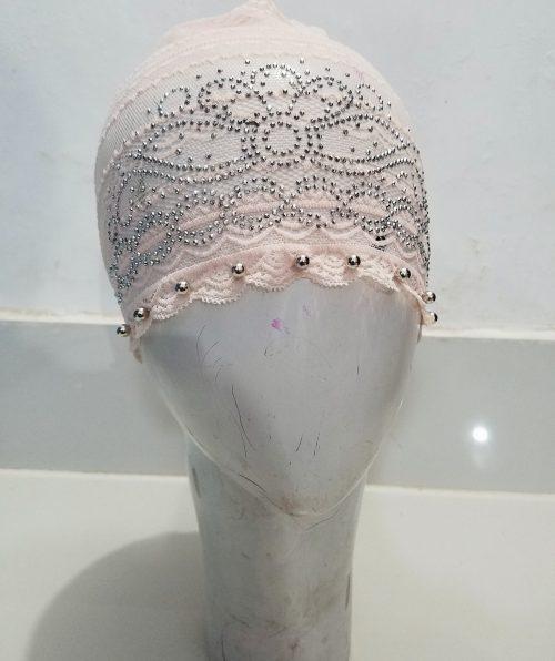 Fancy Lace Cap - Nude