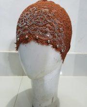 Fancy Lace Cap - Brown
