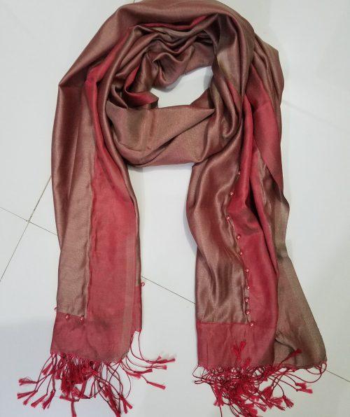 Pearl Viscose Hijab - Rust
