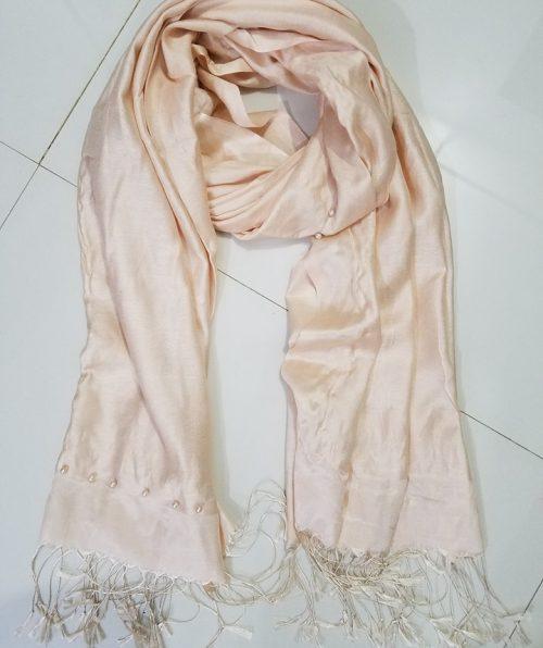 Pearl Viscose Hijab - Cream