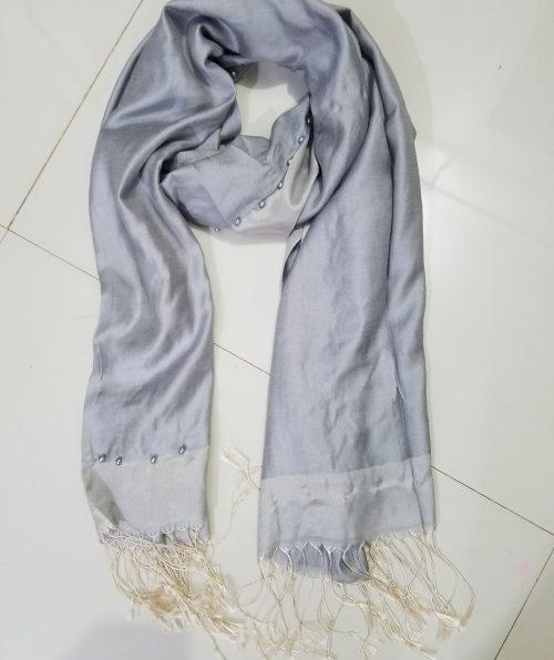Pearl Viscose Hijab - Grey
