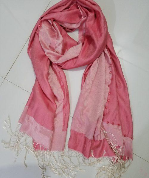 Pearl Viscose Hijab - Rose Wood Pink