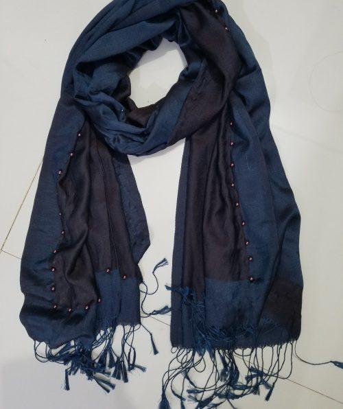 Pearl Viscose Hijab - Navy Blue