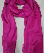 Silky Cashmere Scarf - Deep Pink