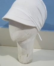 Canvas with Tie Back Bonnet - White - Side Picture
