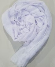 Viscose Scarf with Grids - White - Full Picture