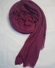 Fancy Crimps Lawn Scarf – Burgundy – Full Picture