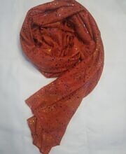 galaxy cotton scarf rust orange full picture