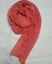Plain Lawn Scarf - Coral Red