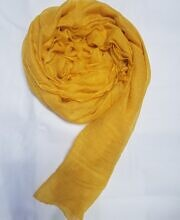 Plain Lawn Scarf - Yellow