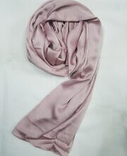 plain satin silk scarf dirty pink full picture
