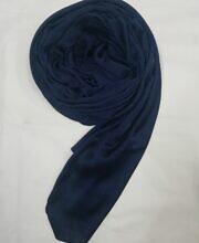 plain satin silk scarf navy blue full picture