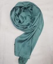 plain satin silk scarf teal full picture