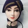 side parting cap with lace brinjal front picture