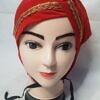 side parting cap with lace red front picture