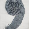 silk printed scarf grey full picture