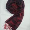silk printed scarf maroon full picture
