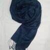 silk printed scarf navy blue front picture