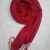 silk printed scarf red full picture