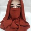 niqab ready to wear caramel brown front picture