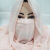 niqab ready to wear light peach front picture